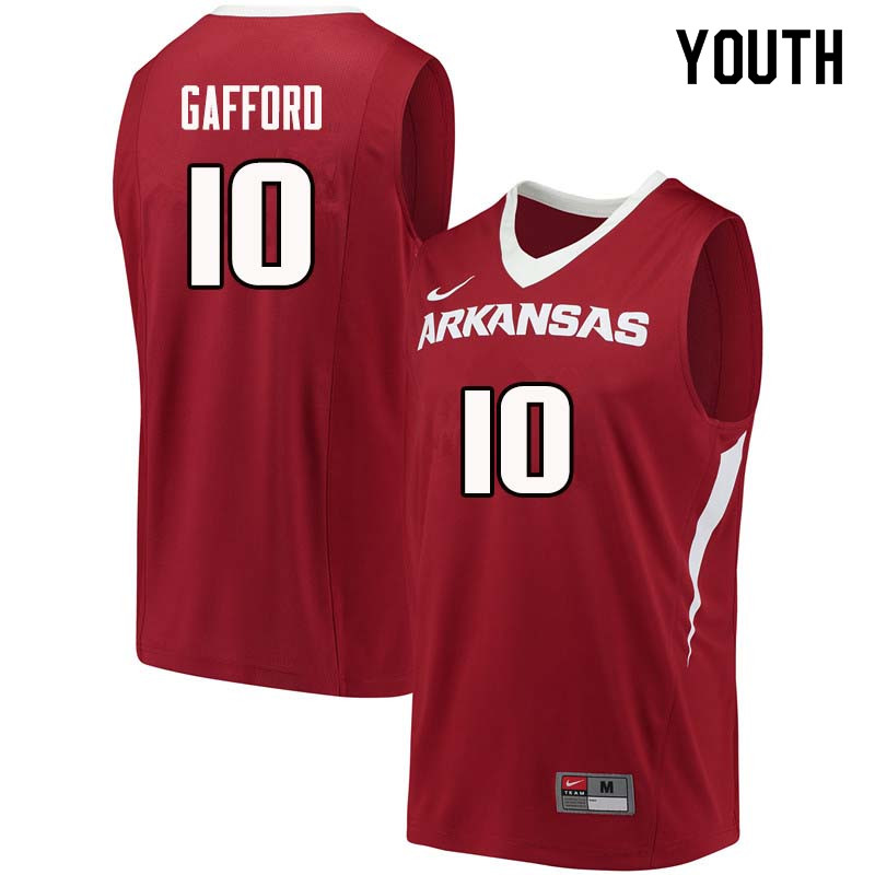 Youth#10 Daniel Gafford Arkansas Razorback College Basketball Jerseys Sale-Cardinal