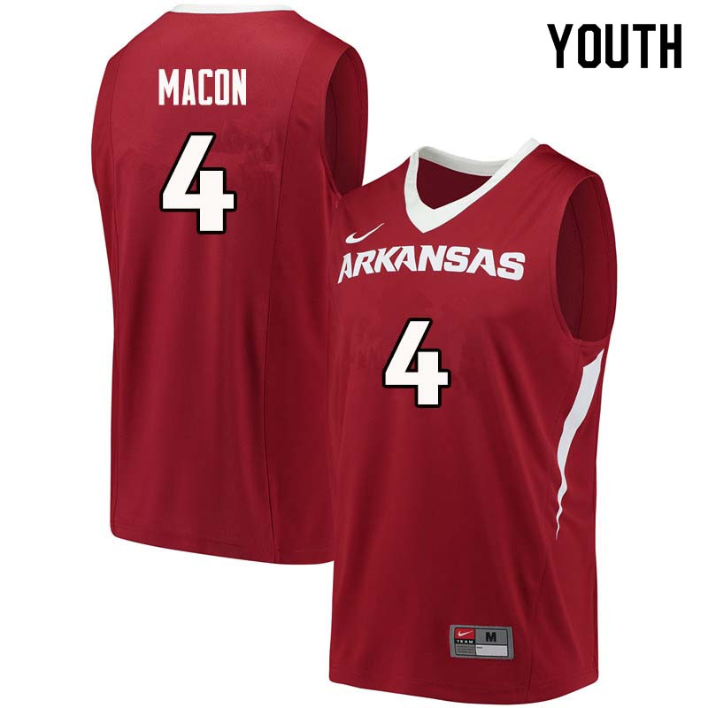 Youth#4 Daryl Macon Arkansas Razorback College Basketball Jerseys Sale-Cardinal