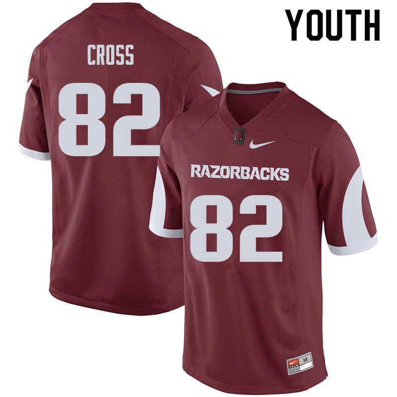 Youth #82 Gary Cross Arkansas Razorback College Football Jerseys Sale-Cardinal