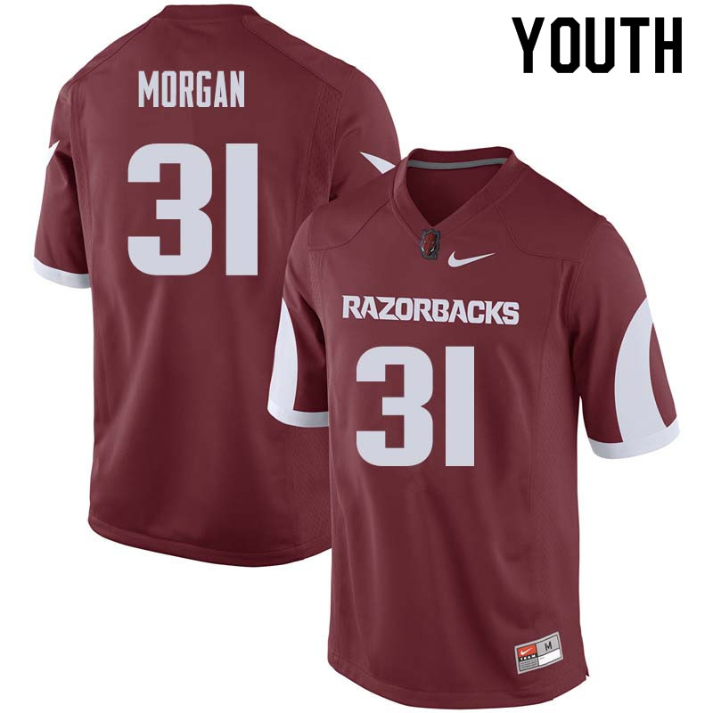 Youth #31 Grant Morgan Arkansas Razorback College Football Jerseys Sale-Cardinal