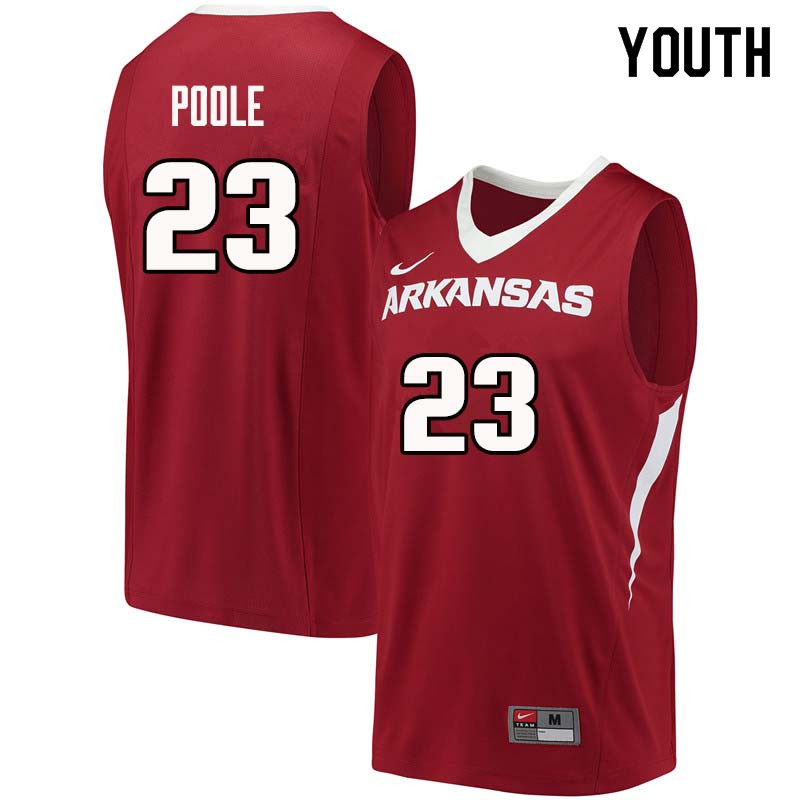 Youth#23 Ike Poole Arkansas Razorback College Basketball Jerseys Sale-Cardinal