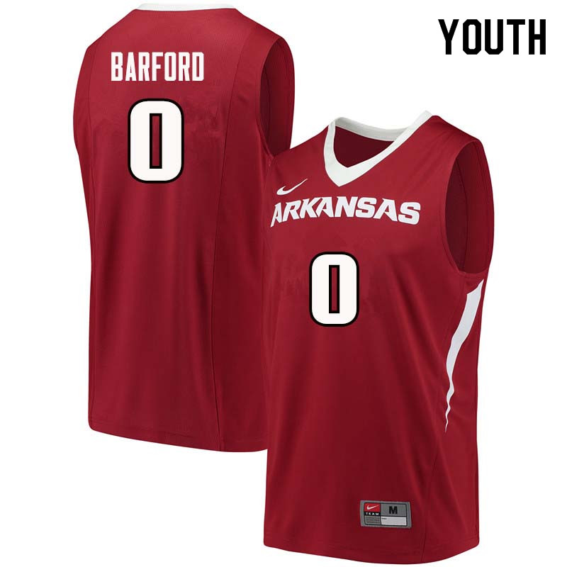 Youth#0 Jaylen Barford Arkansas Razorback College Basketball Jerseys Sale-Cardinal