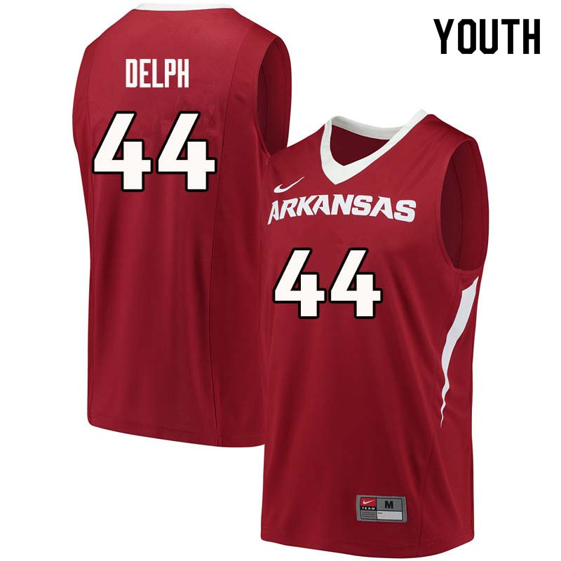 Youth#44 Marvin Delph Arkansas Razorback College Basketball Jerseys Sale-Cardinal