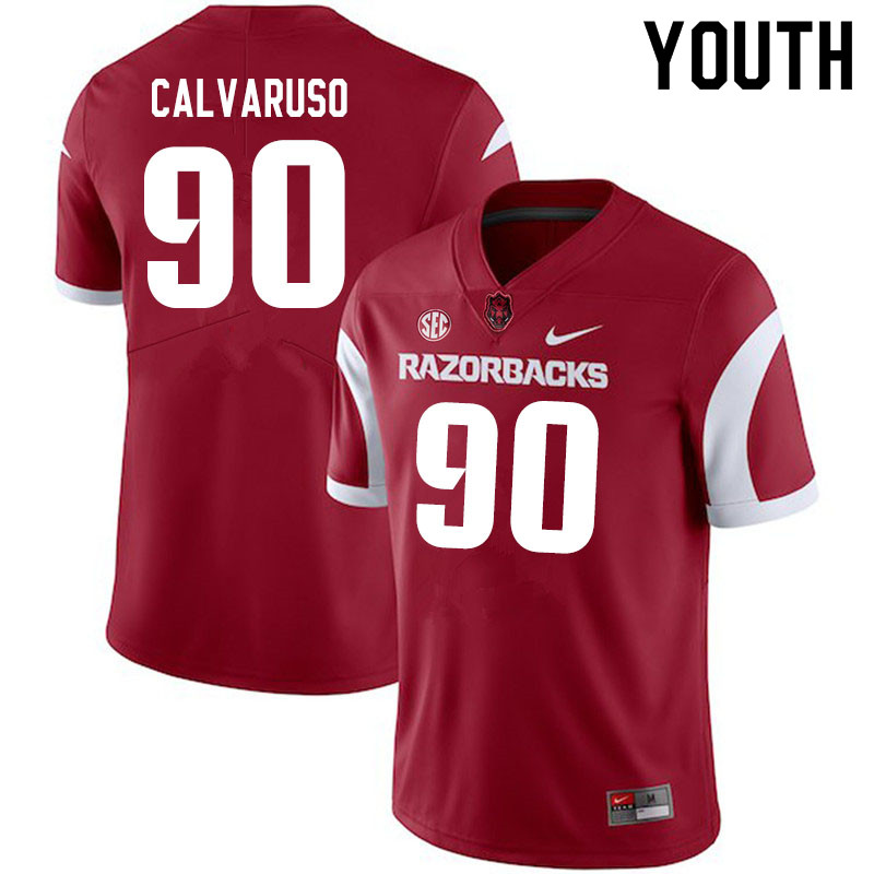 Youth #90 Vito Calvaruso Arkansas Razorbacks College Football Jerseys Sale-Cardinal